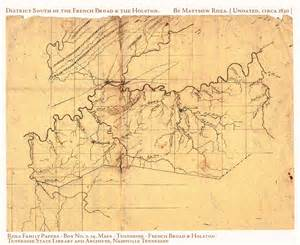 1830 Tennessee County Map