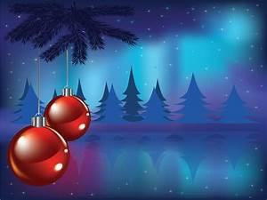 Christmas Card Powerpoint Templates - Blue, Christmas ...