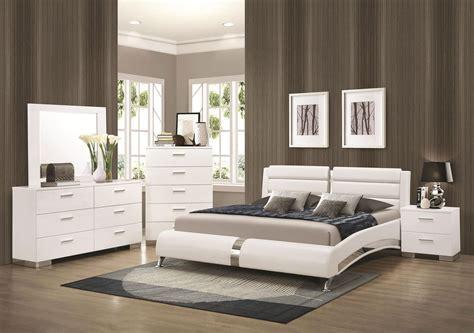 white modern bedroom furniture stanton ultra modern 5pcs glossy white king size platform 17853 | s l1000