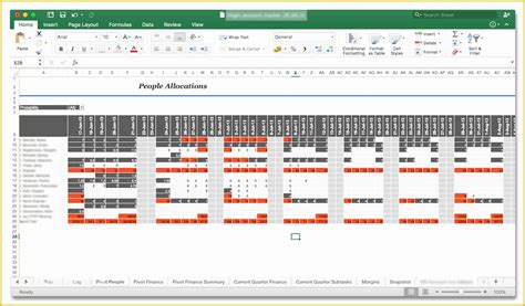 excel multiple project management tracking