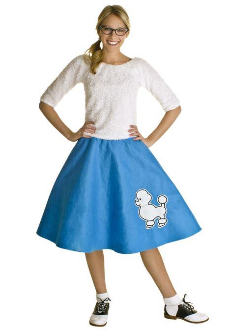 adult blue  poodle skirt
