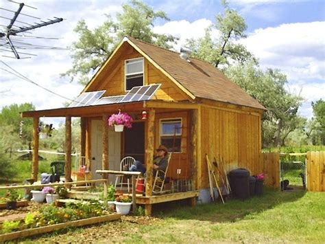 Simple Cheap House Kits To Build Ideas Photo by Author Builds Tiny Solar Powered Grid Cabin For