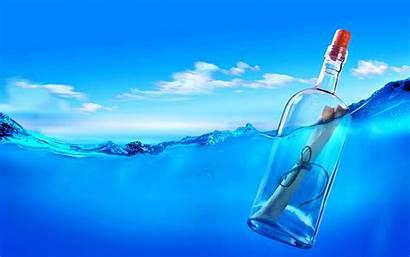 Bottle Message Water Sea Rope Cork Cut