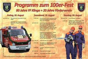 100er Fest 80 Jahre Freiwillige Feuerwehr 20 Jahre