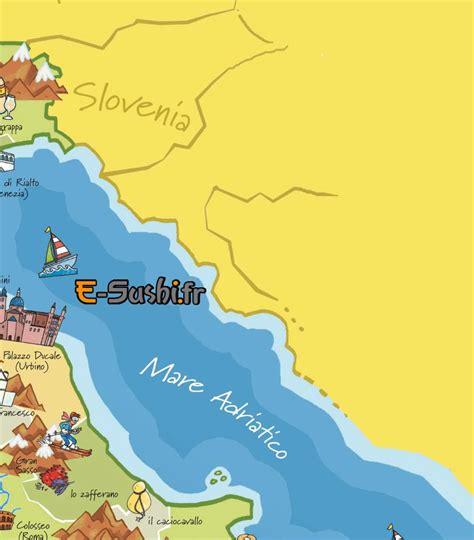 Carte Quart Nord Ouest by Carte Italie Touristique Arts Et Voyages