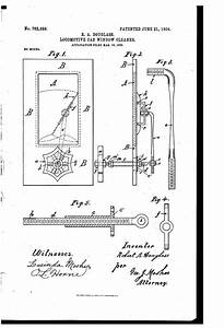 Patent Us762889 - Locomotive-cab-window Cleaner