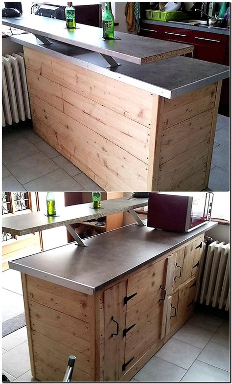 pallet kitchen island 100 ideas for wood pallet recycling wood pallet 1406
