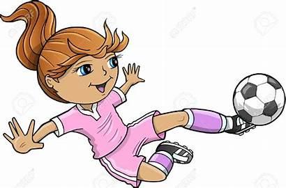 Soccer Clipart Playing Clip Una Jugando Vector