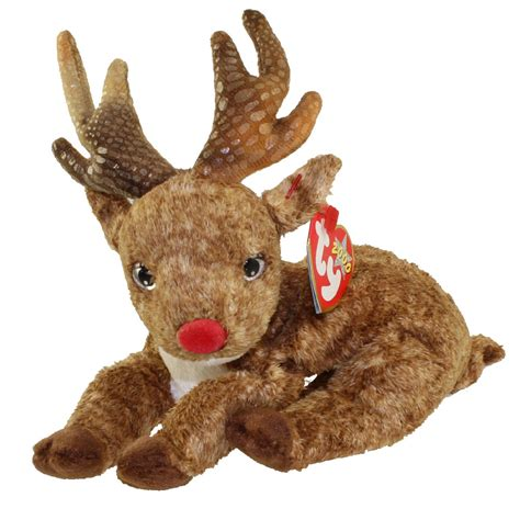 ty beanie baby roxie  reindeer red nose