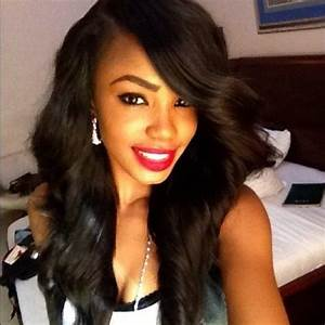 Deep side bang | Weaves & Extensions | Pinterest | Lace ...