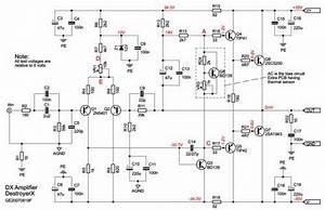 100 W Amplifier 2sa1943
