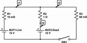 Batteries - How Does A Dead Battery Look In A Circuit