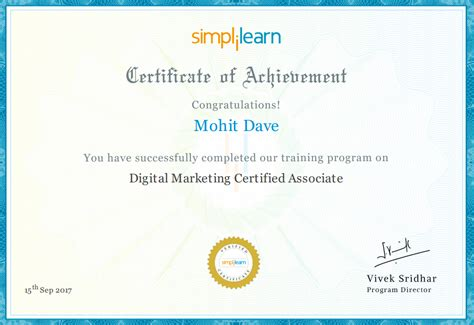 digital strategy certification simplilearn s dmca digital marketing certified associates