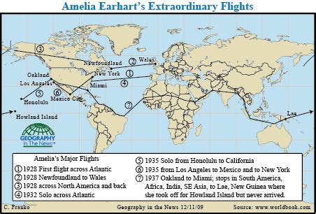 Geography In The News Amelia Earharts Legacy National