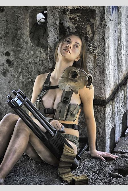 Polina with minigun #3 by ohlopkov on DeviantArt