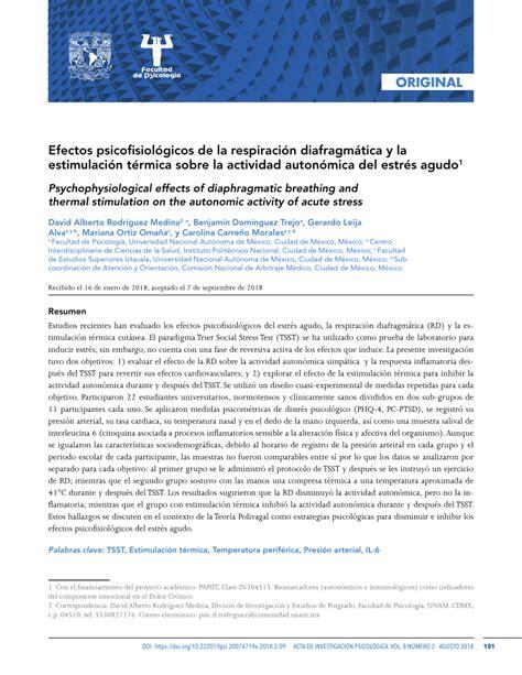 pdf efectos psicofisiol 243 gicos de la respiraci 243 n diafragm 225 tica y la estimulaci 243 n t 233 rmica sobre