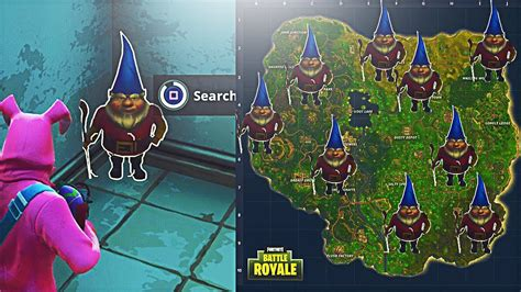 Fortnite Search The Hidden Gnome In Different Named