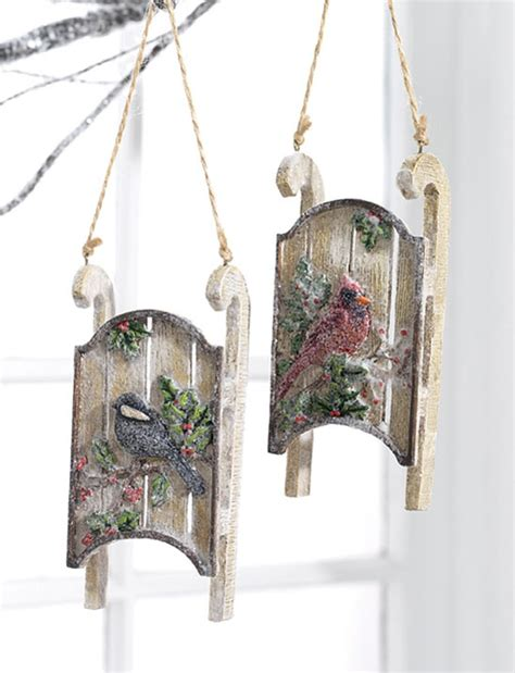 traditional snow sled tree ornaments unique christmas