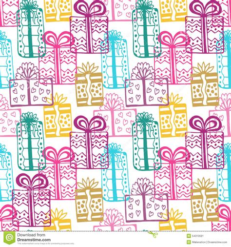 gift seamless pattern seamless happy birthday colorful