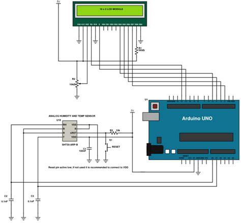 Humidity Temperature Sensor Circuit Diagram Using