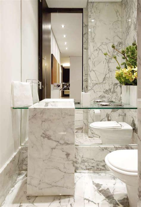 marble in bathrooms p carrara marble powder room p bath shower sauna pinterest powder vanities