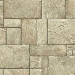 The Wallpaper Company 8 in. x 10 in. Neutral Stone Wallpaper Sample