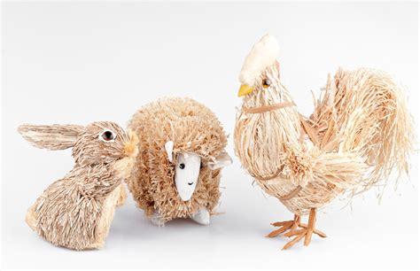 Deko Für Das Ganze Jahr Tiere Aus Stroh Selbst Gemacht Ebay