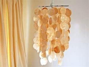 faux capiz shell pendant hgtv With kitchen colors with white cabinets with capiz shell wall art