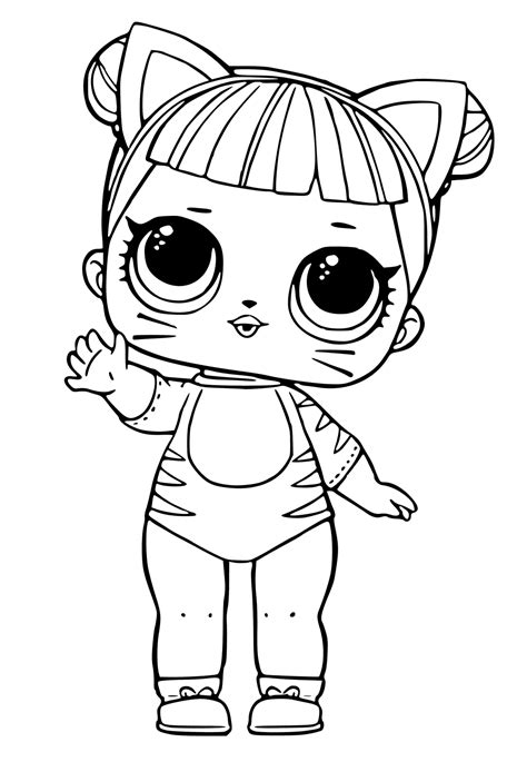 Coloring Lol Dolls by Lol Dolls Coloring Pages Printables Scribblefun