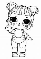 Lol Coloring Dolls Pages Doll Printables Surprise Printable sketch template
