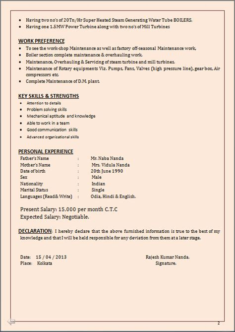 How To Put Expected Mba On Resume by Resume Co Resume Sle For Mba B Tech In