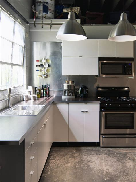 modern kitchen  concrete flooring hgtv