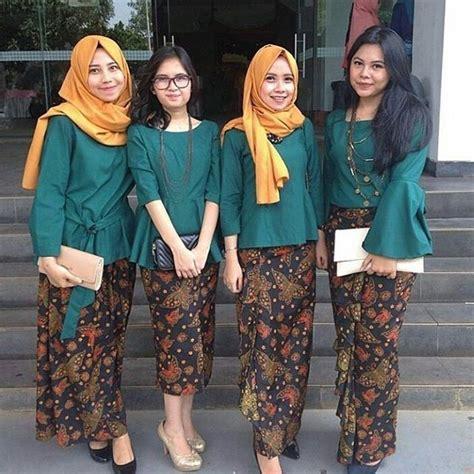 setelan rok dan kebaya brokat model kebaya modern terbaru rok batik panjang