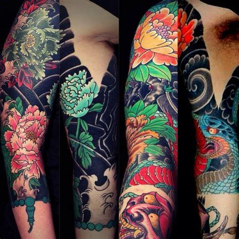 tatouage japonais dragon bras modeles  exemples