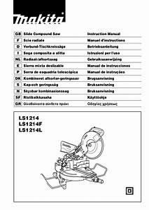 Download Free Pdf For Makita Ls1214f Compound Saw Other Manual