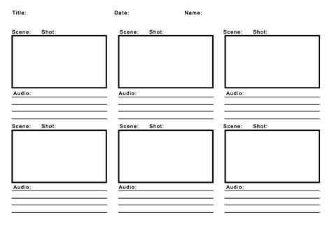 Design Storyboard Template by Free Storyboard Template Pdf Animation Printable