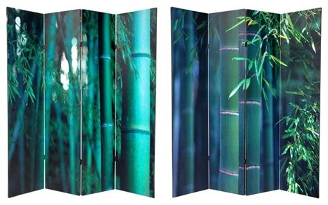 6 Ft. Tall Double Sided Bamboo Tree Canvas Room Divider 4 Extra Large Glass Coffee Table Retro Oval Round With Drawer Ikea Blanket Chest Modern Silver Small Pine Tokyo Twist