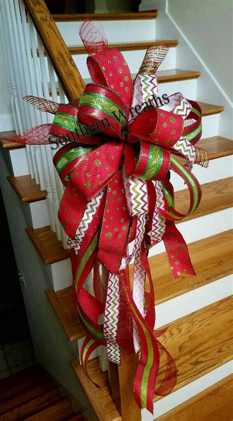 red christmas tree topper large tree bow holiday tree
