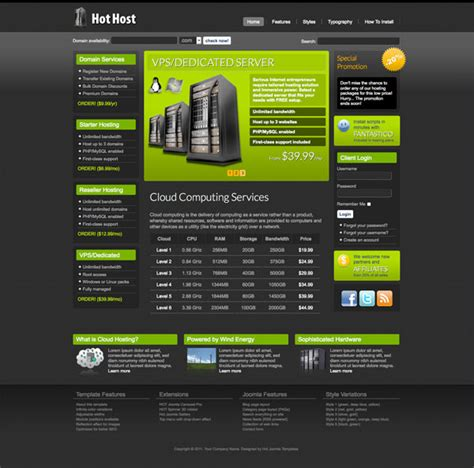 joomla hosting template hot host hotthemes