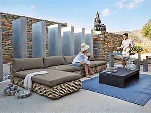 zoom sur le salon de jardin le blog deco de maisons du With tapis oriental avec canapé de jardin maison du monde