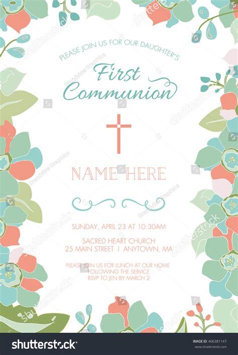 communion baptism christening invitation card stock