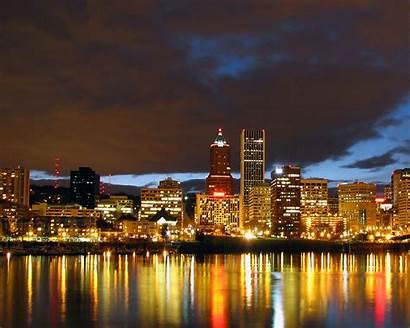 Portland Oregon Desktop Wallpapersafari Cityscape 1280 Night