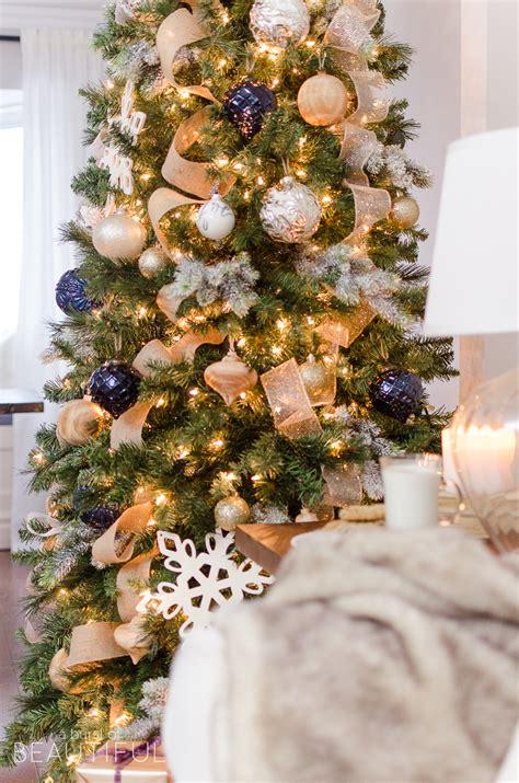 gold christmas tree merry christmas