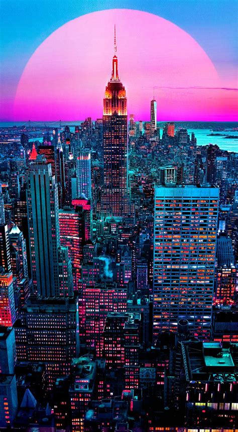 hd aesthetic neon city wallpapers wallpaper cave