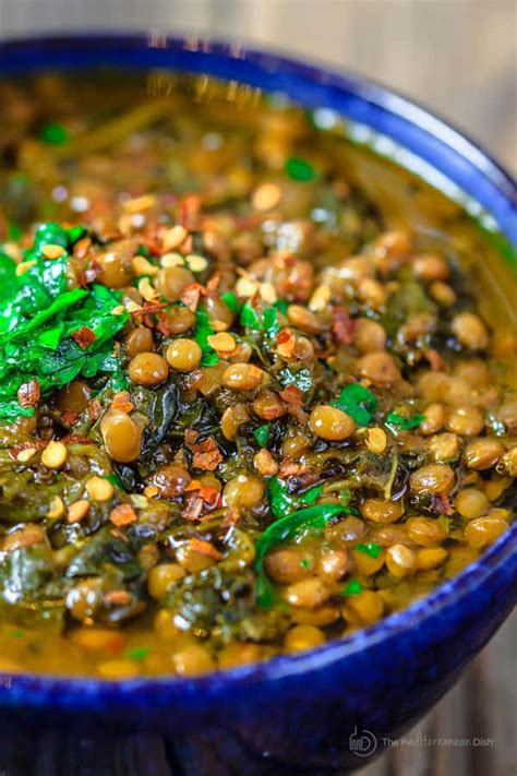 Mediterranean Spicy Spinach Lentil Soup The