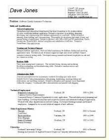 quality resume templates quality assurance banking resume