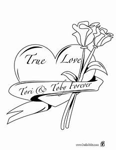 Hearts And Roses Coloring Pages - Coloring Home