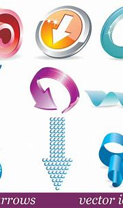 3D solid Arrow Icon vector free download