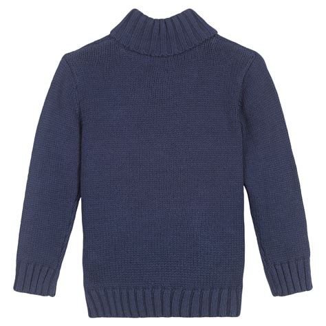 blue sweater 3 pommes boys navy blue knitted sweater bumpalumpa com