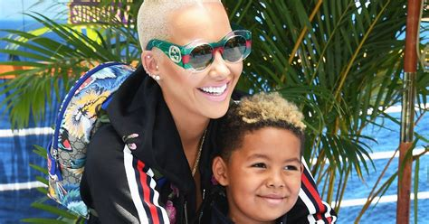 Amber Rose Let's Her 5-year-old Son Swear